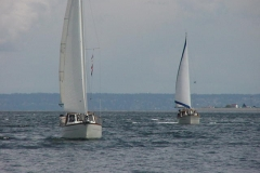 Trofast & Papillon sailing against strong current