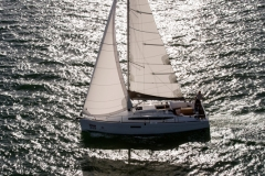Jeanneau 349 sailing in Biscayne Bay, Miami FL.