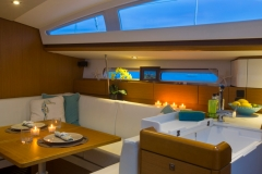 Interiors onboard Jeanneau 44DS in Annapolis, MD.