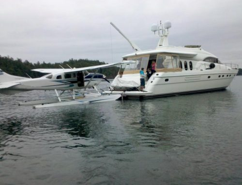 Float plane tie up