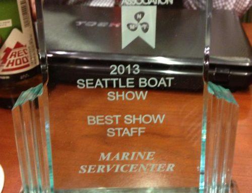 "2013 Seattle Boat Show ""BEST SHOW STAFF"" Award!"