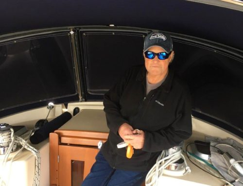 Congratulation to Colin Bancroft on his purchase of the Island Packet 420.