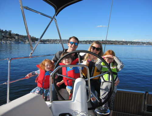 "The Williams Family's 1st sail aboard ""High-Five"""